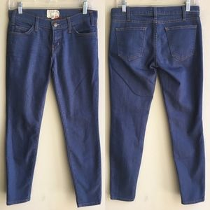 Current Elliott Mid Rise Blue Skinny Jeans Size 26
